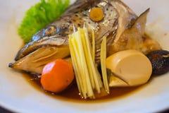 Salmon Kabutoni or steamed salmon head Stock Images