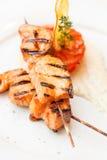 Salmon kebab Stock Image