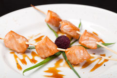 Salmon Kebab Royalty Free Stock Photos