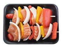 Salmon Kebab Imagen de archivo libre de regalías