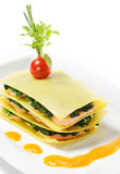 Salmon Lasagna Royalty Free Stock Photos