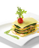 Salmon Lasagna Stock Images