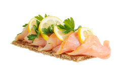 Salmon with lemon Royalty Free Stock Photography
