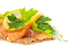 Salmon with lemon Royalty Free Stock Images