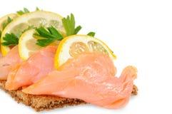 Salmon with lemon Stock Photos