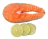 Salmon and lemon Royalty Free Stock Photography