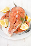 Salmon with lemon Royalty Free Stock Photos