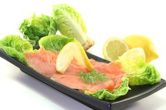 Salmon with Lemon and Dill Stock Photos