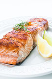 Salmon with Lemon and Dill Royalty Free Stock Photo