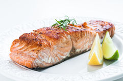 Salmon with Lemon and Dill Stock Photography