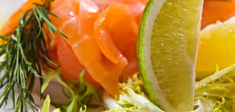 Salmon with lime Royalty Free Stock Images