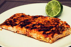 Salmon and lime Royalty Free Stock Image