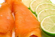 Salmon with lime Royalty Free Stock Image