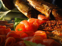 Salmon and mackerel Royalty Free Stock Image