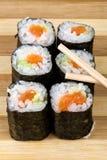 Salmon maki Royalty Free Stock Photography