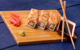 Salmon Maki Roll Royaltyfria Foton
