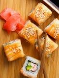 Salmon Maki Roll Stock Photography