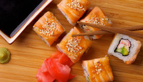 Salmon Maki Roll Royalty Free Stock Images
