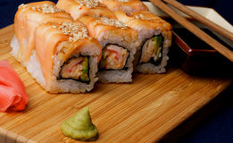 Salmon Maki Roll Royalty Free Stock Photography