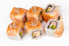 Salmon Maki Roll Stock Photography