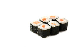 Salmon Maki sushi Stock Photos