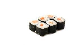 Salmon Maki sushi Stock Photos