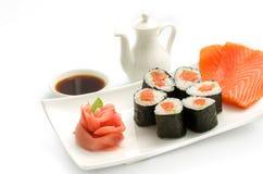 Salmon Maki sushi Royaltyfria Foton