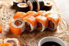 Salmon Maki Sushi Roll Royalty Free Stock Photo