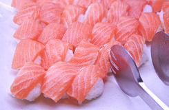 Salmon makizushi Royalty Free Stock Photography