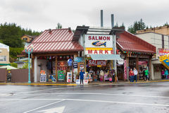 Salmon Market, Ketchikan Fotografia de Stock