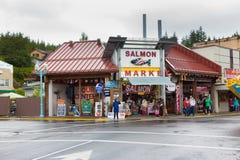 Salmon Market, Ketchikan. stock photography