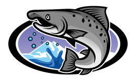 Salmon mascot Royalty Free Stock Photo