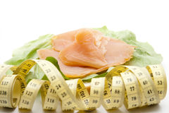 Salmon measuring tape Stock Photos