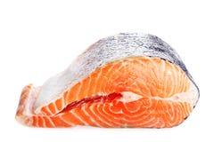 Salmon meat. Fresh red salmon fish steak Royalty Free Stock Image