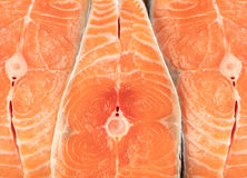 Salmon meat close-up Royalty Free Stock Image