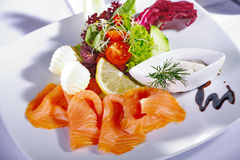 Salmon menu Royalty Free Stock Photography