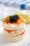 Salmon mini sandwich Royalty Free Stock Image