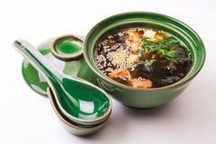Salmon Miso Soup Fotos de archivo libres de regalías