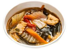 Salmon Miso Soup Stock Photography
