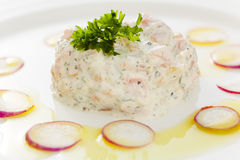 Salmon mousse Royalty Free Stock Photo