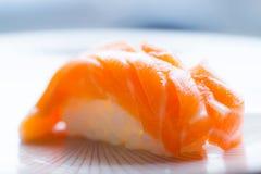 Salmon Nigiri. On classic from the Japanese cuisine Stock Image