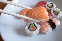 Salmon Nigiri Sushi Fotografia de Stock