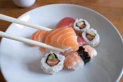 Salmon Nigiri Sushi Foto de Stock Royalty Free
