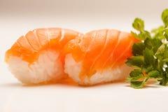 Salmon Nigiri Sushi Fotografie Stock