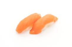 Salmon nigiri sushi - japanese food style. On white background Royalty Free Stock Photography