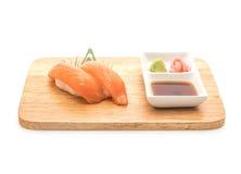 Salmon nigiri sushi - japanese food style. On white background Stock Images