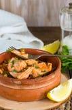 Salmon and orzo stew Stock Photos