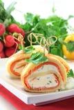Salmon Pancakes Royalty Free Stock Images