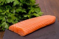 Salmon and parsley Stock Photo