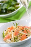 Salmon Pasta Stock Images